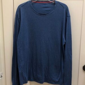 Lululemon Men's Long Sleeve Blue Tee Shirt L